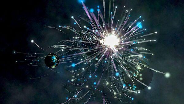 Una explosión cósmica (ilustración) - Sputnik Mundo