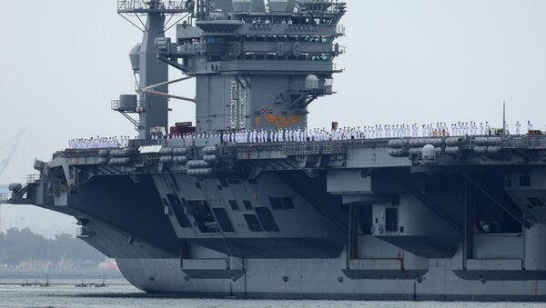 El portaviones estadounidense USS Nimitz - Sputnik Mundo