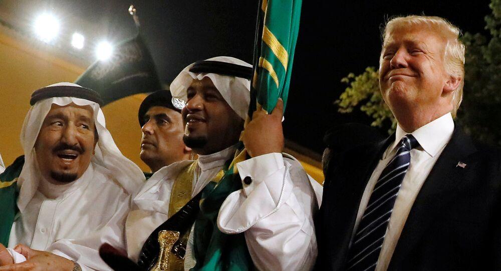 Donald Trump en el marco de su visita a Arabia Saudí