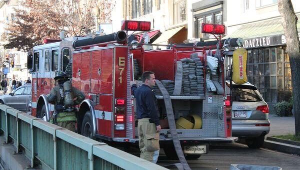 Camión de bomberos en Connecticut - Sputnik Mundo