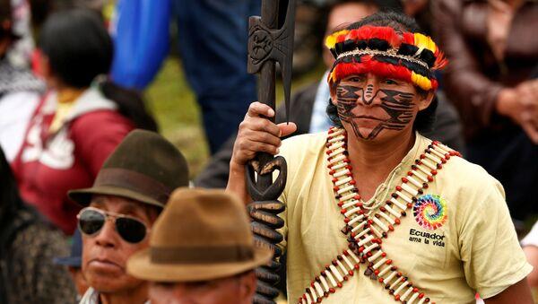 Indígenas de Ecuador - Sputnik Mundo