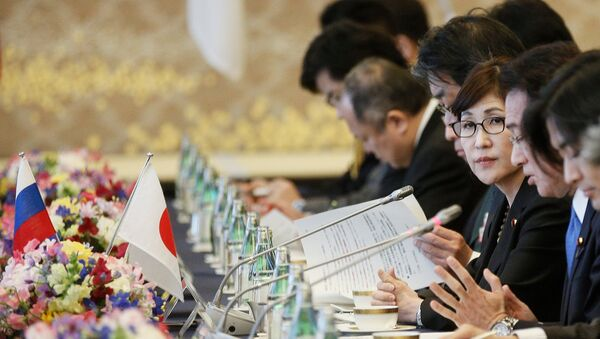 La titular del Ministerio de Defensa de Japón, Tomomi Inada - Sputnik Mundo