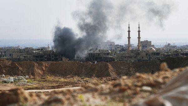 Bombardeo en Siria (archivo) - Sputnik Mundo