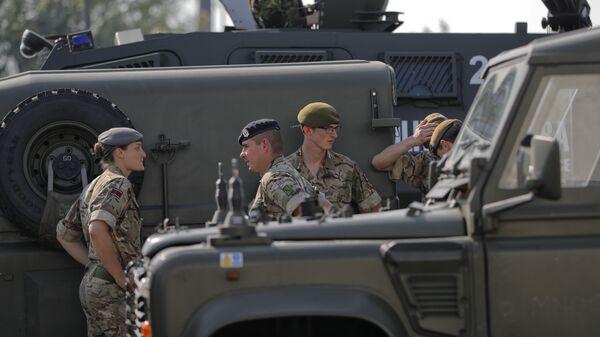 Los militares de la OTAN durante las maniobras Noble Jump 2017 - Sputnik Mundo