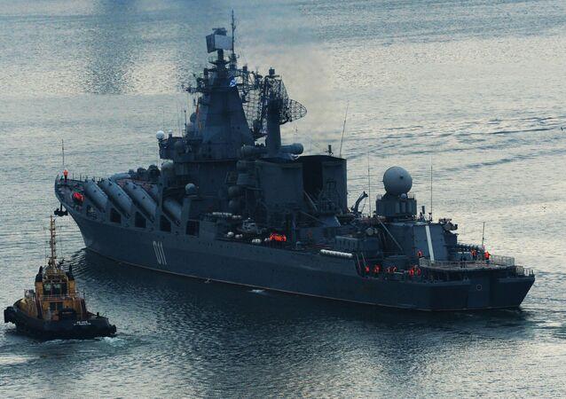 El crucero portamisiles ruso Variag