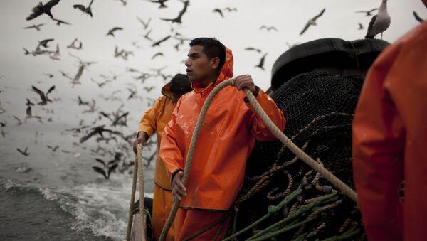 Pescadores de la industria pesquera holandesa en las costas de Perú - Sputnik Mundo
