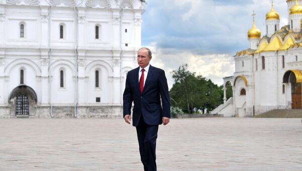 Vladímir Putin, presidente de Rusia, en el Kremlin - Sputnik Mundo