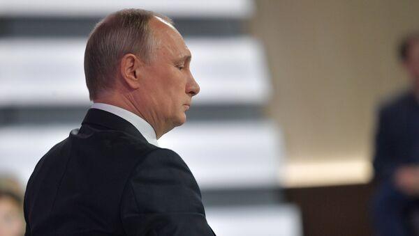 La 15ª 'Línea directa' con Vladímir Putin (archivo) - Sputnik Mundo