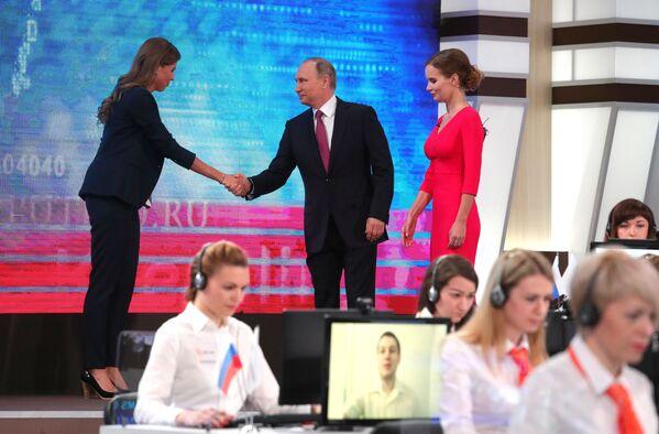 'Línea directa' con el presidente ruso Vladímir Putin - Sputnik Mundo