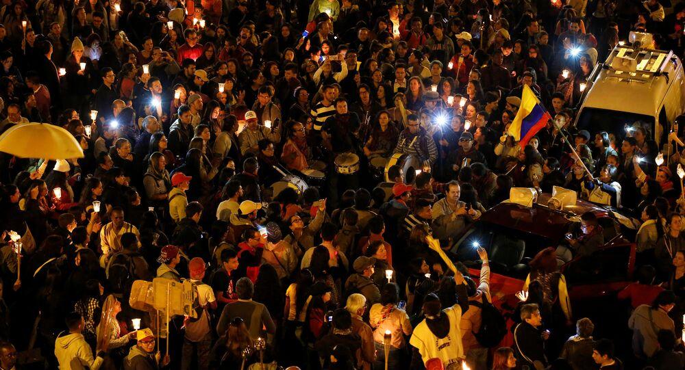 Protesta de maestros en Colombia (archivo)