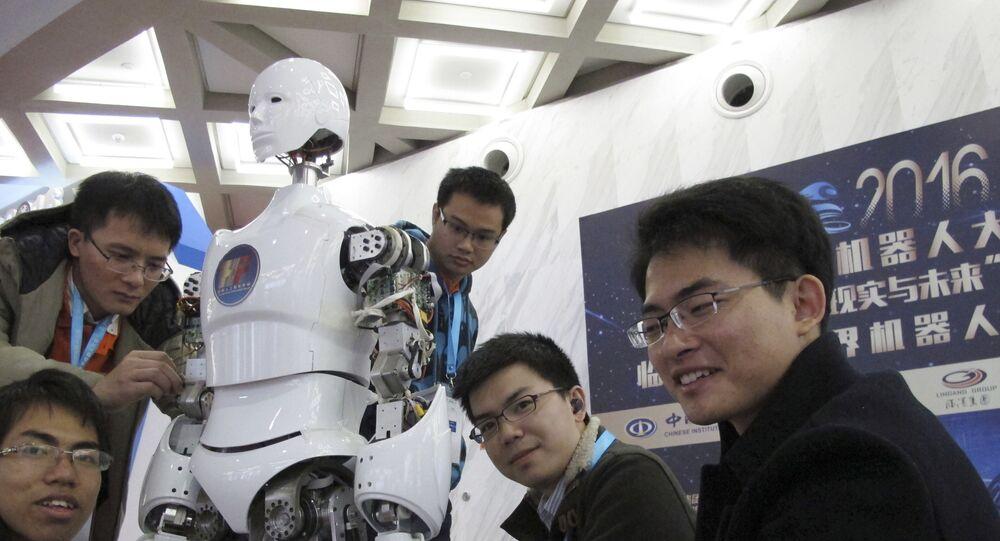 Un robot, en la Conferencia del Mundo Robot en Pekín (imagen referencial)