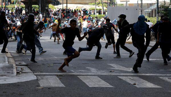 Protesta en Venezuela (archivo) - Sputnik Mundo