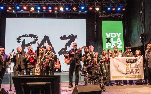 Festival Voy por la Paz reunió a consagrados músicos argentinos y cinco premios Nobel del la Paz en Rosario - Sputnik Mundo