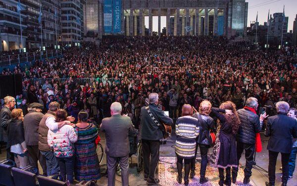 Monumento a la Bandera, en Rosario, recibe el festival Voy por la Paz - Sputnik Mundo