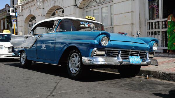 Taxi en Cuba (Archivo) - Sputnik Mundo