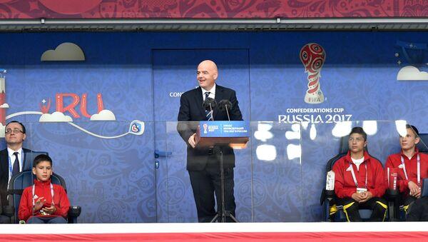 Gianni Infantino, el presidente de la FIFA, en la ceremonia de apertura de la Copa Confederaciones 2017 - Sputnik Mundo