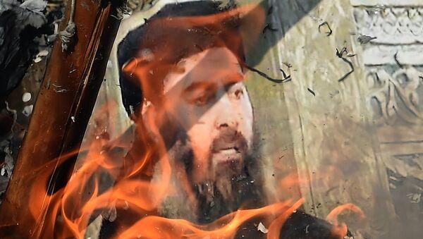 Foto de Abu Bakr al Baghdadi en llamas - Sputnik Mundo
