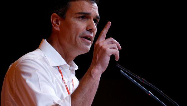 El secretario general del Partido Socialista Obrero Español (PSOE), Pedro Sánchez - Sputnik Mundo