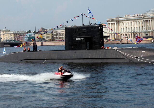 Un submarino del proyecto Lada en San Petersburgo