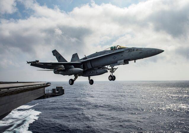 Caza estadounidense F/A-18E Super Hornet