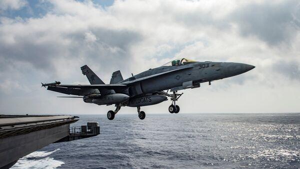 Caza estadounidense F/A-18E Super Hornet (archivo) - Sputnik Mundo