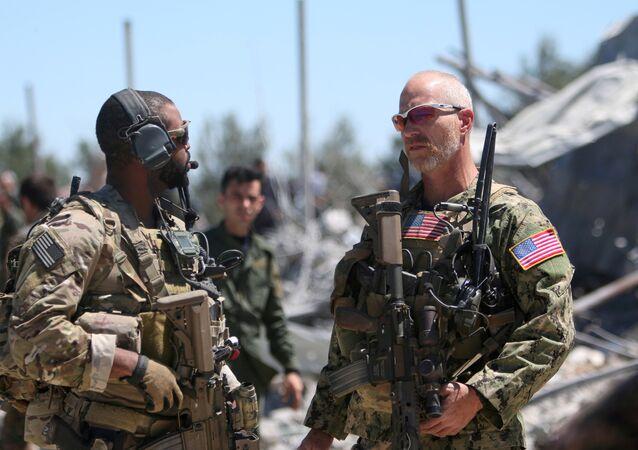Soldados estadounidenses en Siria