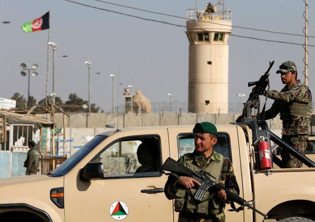 Fuerzas de seguridad afganas en Kabul (archivo)