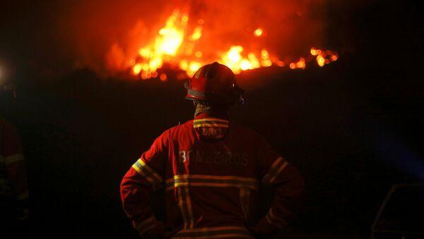 Un bombero (imagen referencial) - Sputnik Mundo