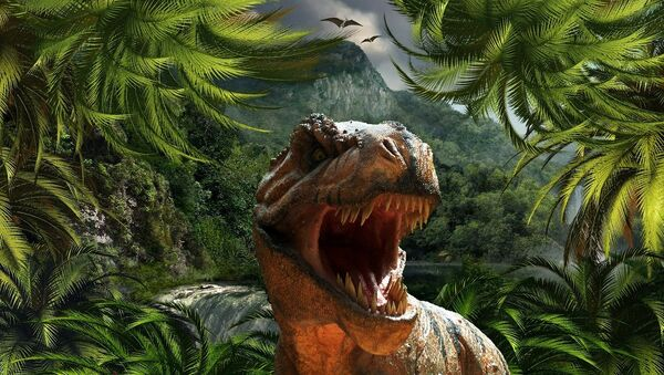 Un dinosaurio (imagen referencial) - Sputnik Mundo
