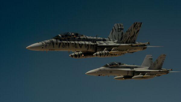 Cazas F-18 Super Hornet (archivo) - Sputnik Mundo