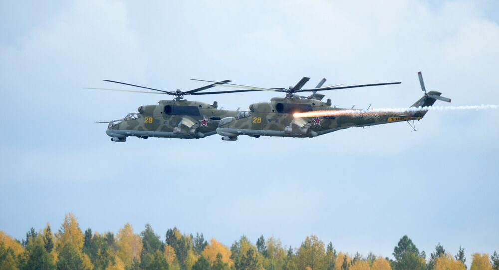 Helicópteros rusos Mi-24 (archivo)