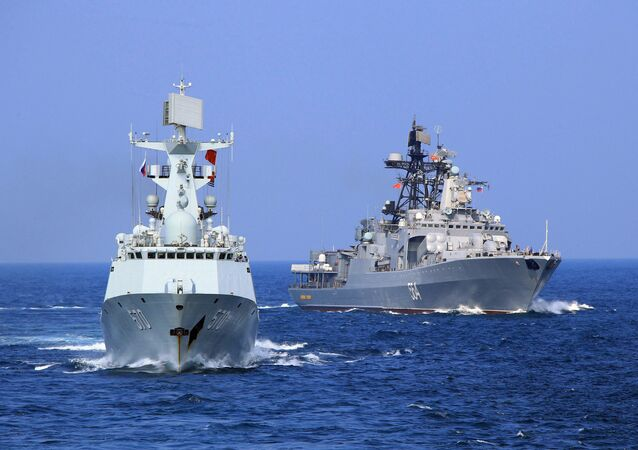 Maniobras navales de China y Rusia (archivo)