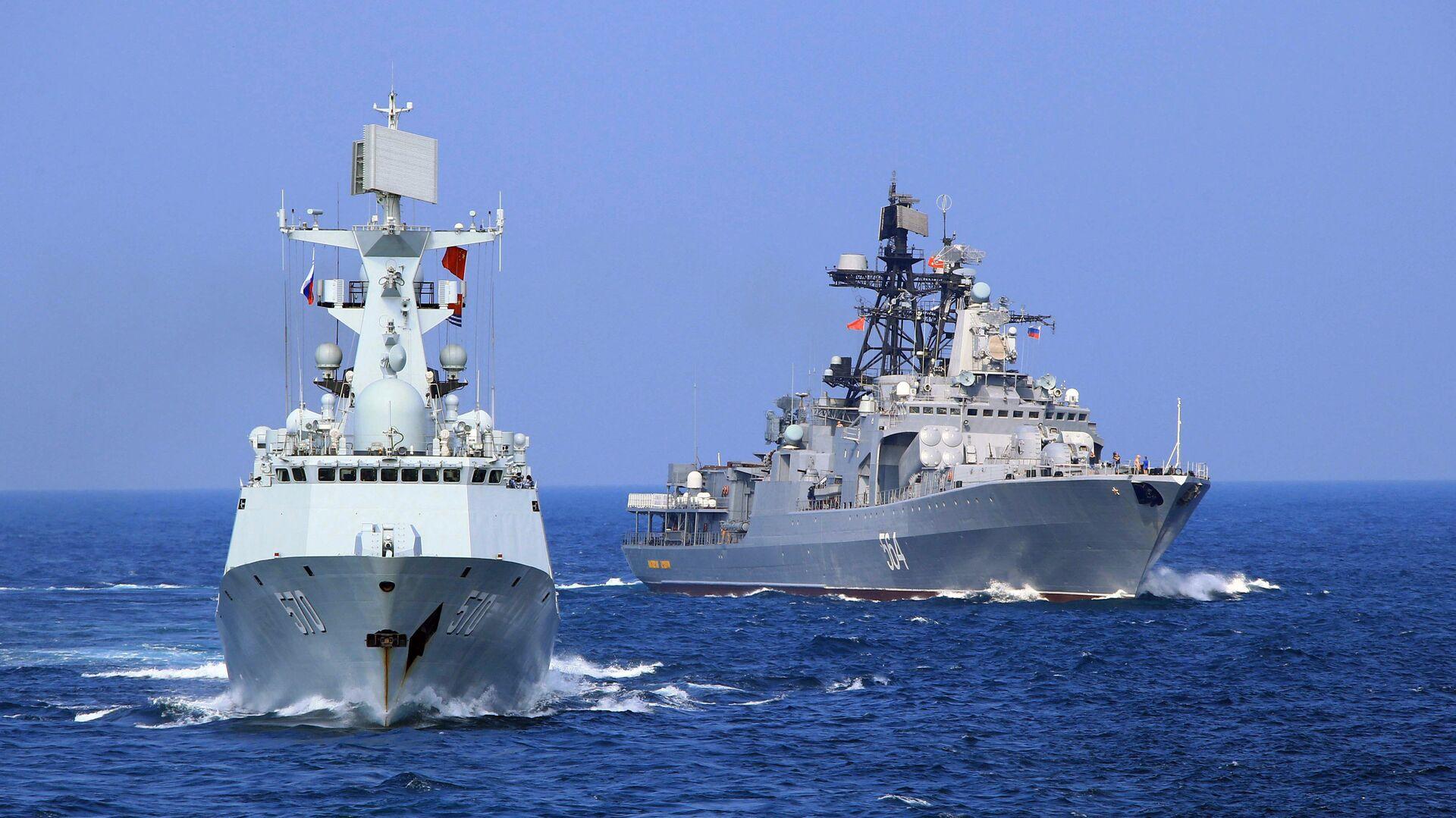 Maniobras navales de China y Rusia (archivo) - Sputnik Mundo, 1920, 01.03.2021