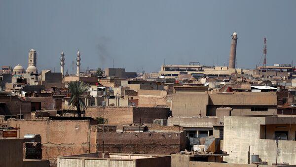 La torre de la Gran Mezquita de Al Nuri en Mosul, Irak - Sputnik Mundo