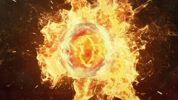 Una bola de fuego (imagen referencial) - Sputnik Mundo