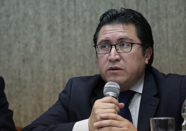 Carlos Poveda, el abogado privado de Assange en Ecuador (archivo)