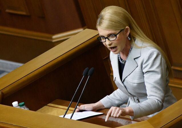 Yulia Timoshenko, ex primer ministra de Ucrania (archivo)