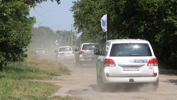 Un cortejo de OSCE en Donbás - Sputnik Mundo