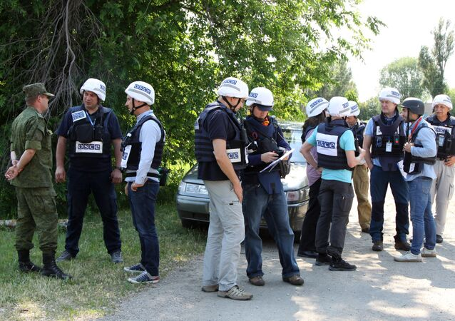 Los observadores de OSCE en Donbás