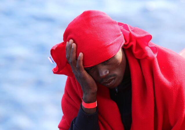 Un migrante de Libia