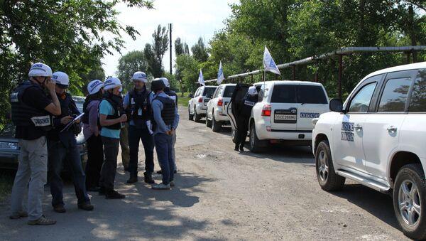 Los observadores de la OSCE en Donbás - Sputnik Mundo
