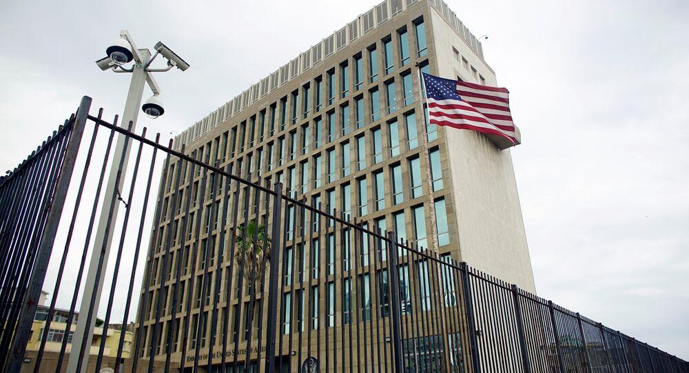 La embajada de EEUU en La Habana, Cuba