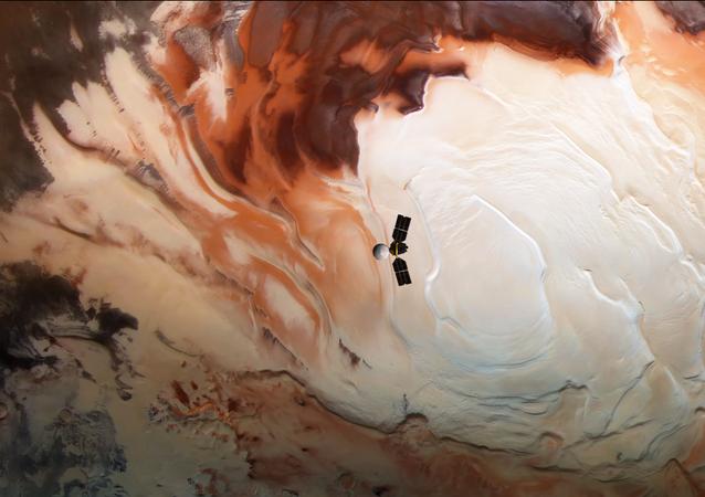 Imagen de Marte en falso color