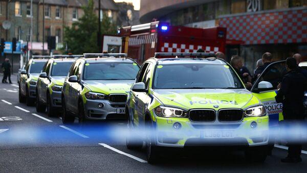 Los coches de la Policía del Reino Unido (imagen referencial) - Sputnik Mundo