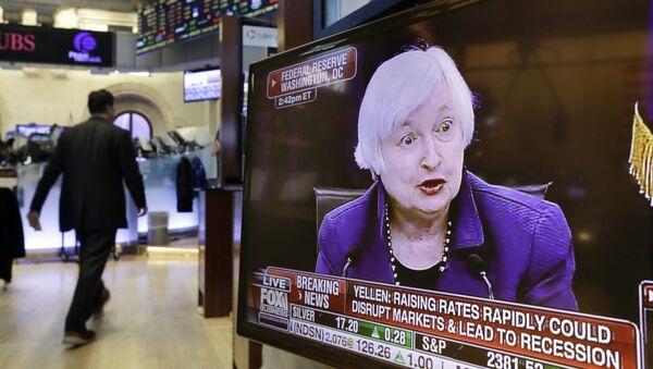 Janet Yellen, presidenta de la Fed - Sputnik Mundo