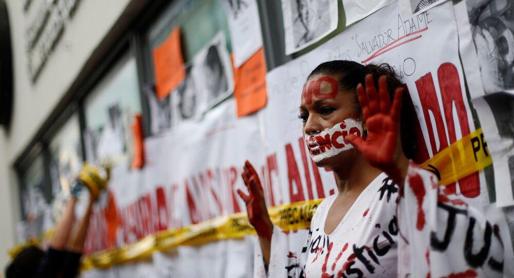 Protesta contra violencia contra periodistas en México (archivo)