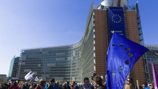 Protestas en Bruselas - Sputnik Mundo