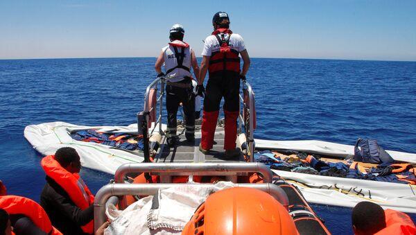 Situación con los refugiados en el Mediterráneo - Sputnik Mundo