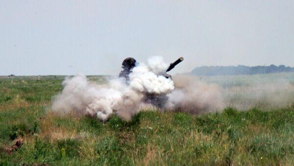 Un tanque en la República Popular de Lugansk, Ucrania - Sputnik Mundo