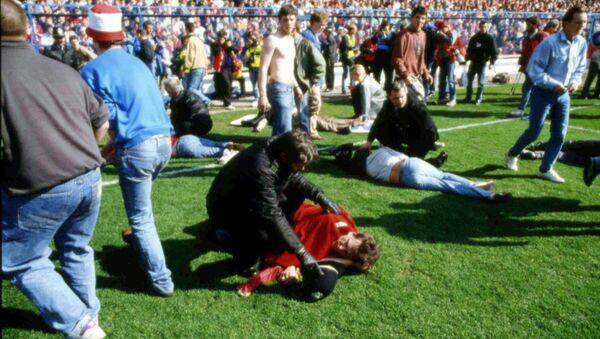 La tragedia de 1989 en el estadio de Hillsborough, Reino Unido, que se saldó con 96 muertos - Sputnik Mundo